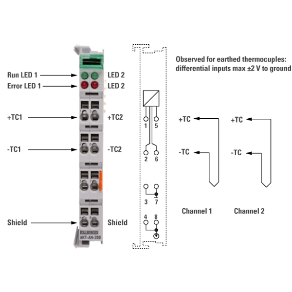 TERMOCOPPIA K Sensore Assembly 6 x 200 mm