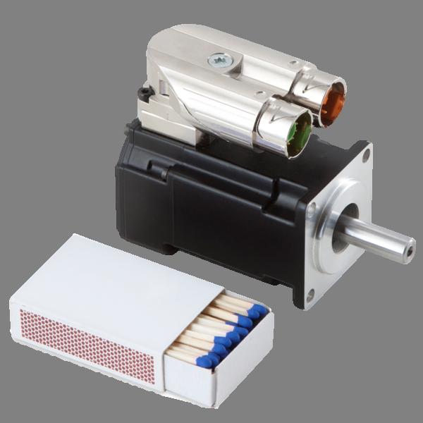 Kollmorgen AKM1 DC Servo Motor, Düşük Voltaj Size Comparison