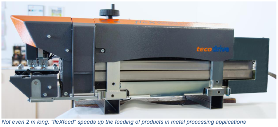 tecodrive - Material Feed Application - Magnetic field instead of feed rollers