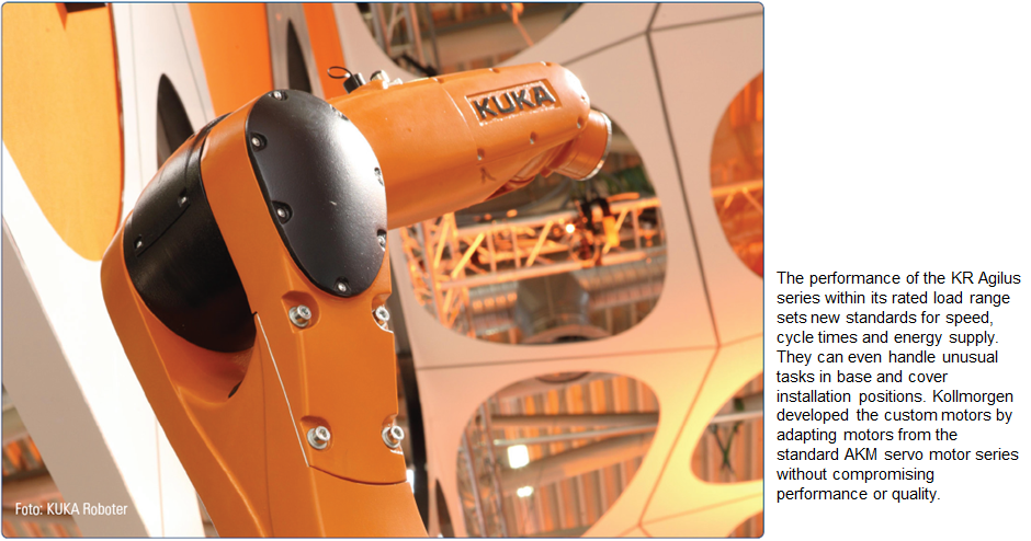 Kuka and Kollmorgen co-engineer optimised motors for compact robots