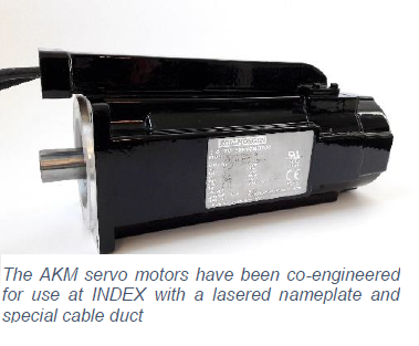 AKM servo motors co-engineered for INDEX