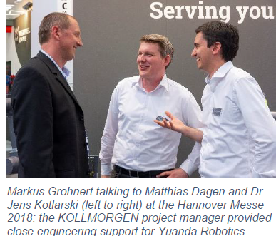 Markus Grohnert talking to Matthias Dagen and Dr Jens Kotlarski