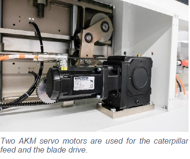 AKM servo motors caterpillar feed