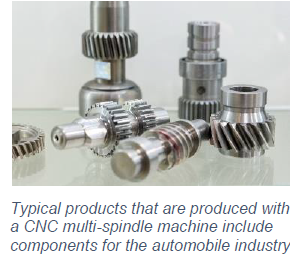 typical products produced with CNC multi-spindle