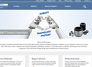 Kollmorgen Unveils Website Featuring New Tools and Technical Support