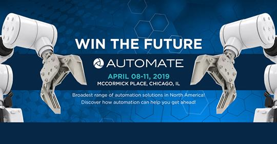Join Kollmorgen at Automate in Chicago, IL USA April 8-11, 2019