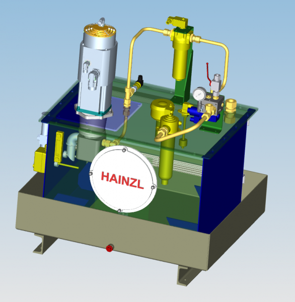 Setup for an electro hydraulics unit from Hainzl