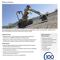 Military Robotics Datasheet