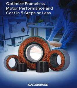 Optimize Frameless Motor Performance and Cost in 5 Steps or Less