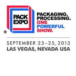 Save the Date: PACK EXPO 2013 begins September 23-25 in Las Vegas, NV!