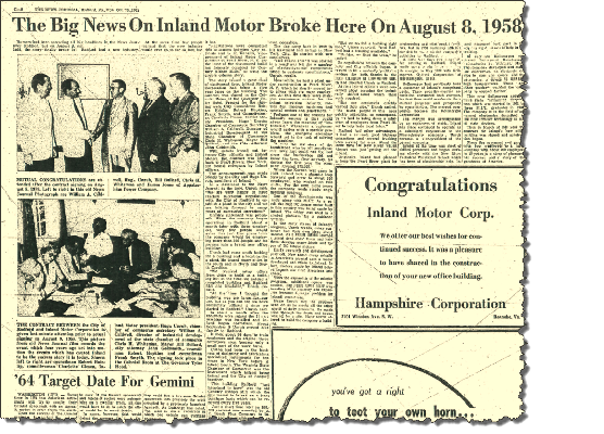 Inland in the News 1958