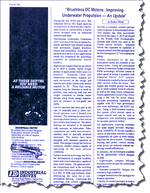 SubNotes 1988 Article