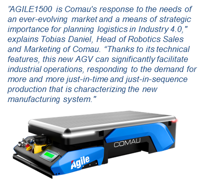 Kollmorgen Comau AGILE1500 Autonomous Guided Intelligent Lean Equipment