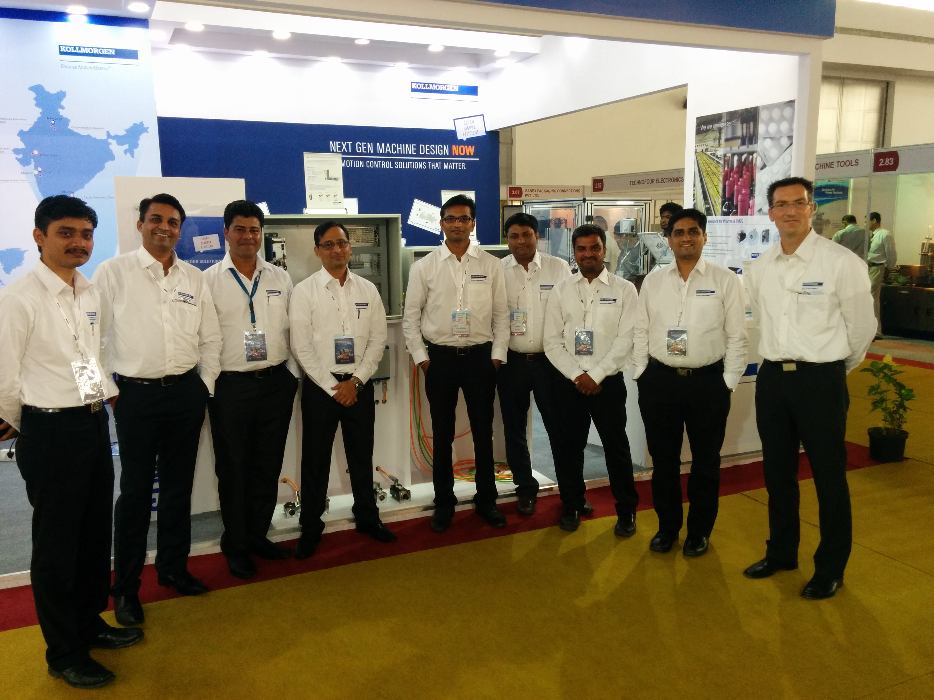 Kollmorgen India Team Ready for Show